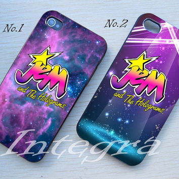 Jem and The Holograms Hard plastic and Rubber case iphone 4/4s,5/5s,5c,Samsung S3 i9300,S4 i9500