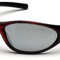 Pyramex Zone II Red Wood Mirror Lens Safety Glasses SRW3370E Work Sports Eyewear