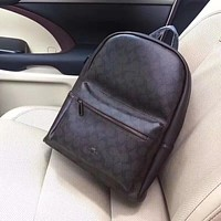 COACH MEN'S LEATHER BACKPACK BAG
