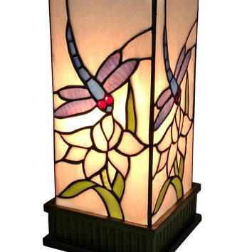 Tiffany Style Dragonfly Table Lamp 12 High