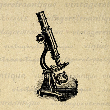 Vintage Microscope Digital Image Download Printable Graphic Vintage Clip Art for Transfers Printing etc No.1507