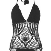 Crochet Swimsuit - Black