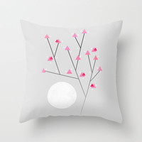 Cherry Blossom / In memory of Mackenzie Throw Pillow by Elisabeth Fredriksson