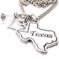 "Texas State 18"" Fashion Necklace"