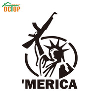 'Merica Vinyl Decal Car Sticker Car Decals Statue Of Liberty Removable Auto Styling Self Adhesive
