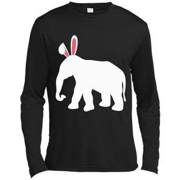 Easter Elephant T-Shirt For Kids and Adults Long Sleeve Moisture Absorbing Shirt