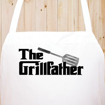 The Grill Father Chef's Funny Cooking Kitchen Apron , BBQ Grill, Breathable, Machine Washable