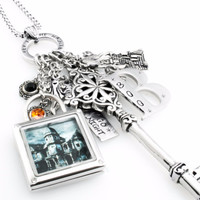 Key Charm Necklace - Key to the Haunted House