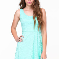 Lace Up Skater Dress - LoveCulture