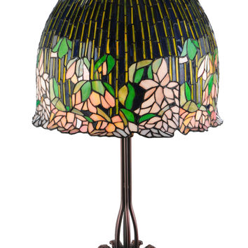 32 Inch H Tiffany Flowering Lotus Table Lamp