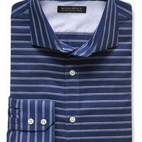 Banana Republic Mens Tailored Slim Fit Non Iron Striped Shirt