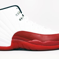 Air Jordan 12 Retro Cherry Basketball Shoes <>