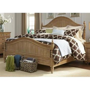 Liberty Furniture Harbor View Poster Bed in Sand Finish