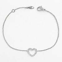 Nadri Boxed Heart Station Bracelet (Nordstrom Exclusive)