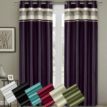 Milan Blackout Multilayer Energy Saving Grommet Curtain Panel