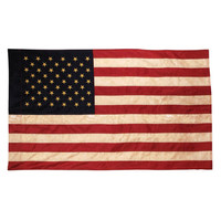 ConsumerCrafts Product Vintage Look, Tea Stained American Flag