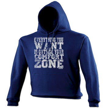 Personal Best Everything You Want Is Outside Your Comfort Zone Running Hoodie