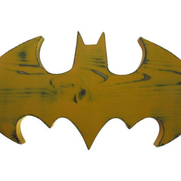 Batman signal Wood Sign Wall Decor Rustic Chic Photo Prop Nursery Kids Decor Wall Sign Superhero Bat Wall Art Kids room