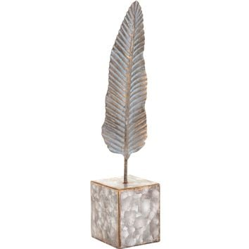 Silver Feather Figurine