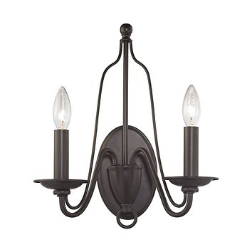 32160/2 Monroe 2 Light Wall Sconce In Oil Rubbed Bronze
