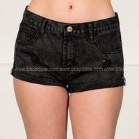 Charcoal Distressed Shorts