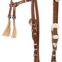Saddles Tack Horse Supplies - ChickSaddlery.com Futurity Headstall with Rawhide Braid & Horse Hair