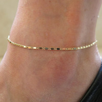 Gift Shiny Stylish Sexy Cute Jewelry New Arrival Ladies Simple Silver Fashion Accessory Anklet [6768764359]