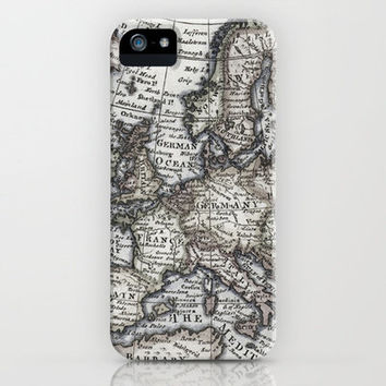 Old World Map iPhone Case by Upperleft Studios | Society6