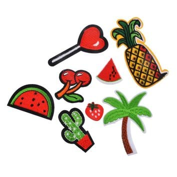 Tropical Fruit 8 Piece Iron On Girly Patches