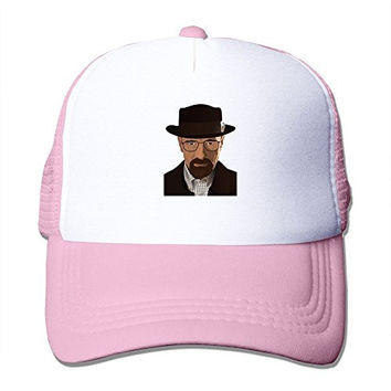 2016 Latest Adult Unisex Breaking Bad Heisenberg 100% Nylon Mesh Caps One Size Fits Most Adjustable Mesh Hats