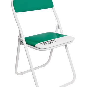 Pantone 17-5641 Emerald Metal Folding Chair (Set of 4) by Seletti
