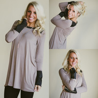 The Best Day Tunic (Mocha / Black) - Piace Boutique