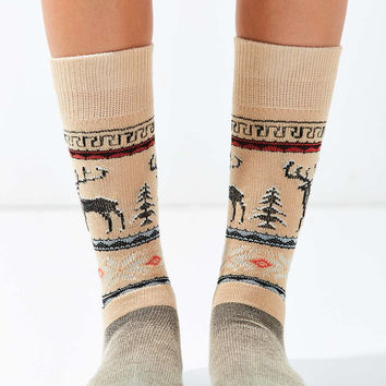 Out From Under Reindeer Intarsia Sock - Urban Outfitters