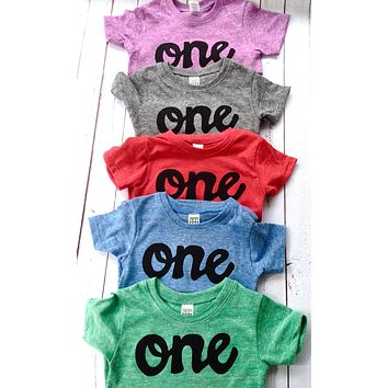 Boys one birthday shirt- red, blue, grey, mint green, purple- boys 1st birthday shirt black one kids birthday theme first party 1 year old baby infant gift