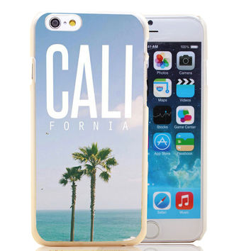 California Palm Trees Transparent Case for iPhone