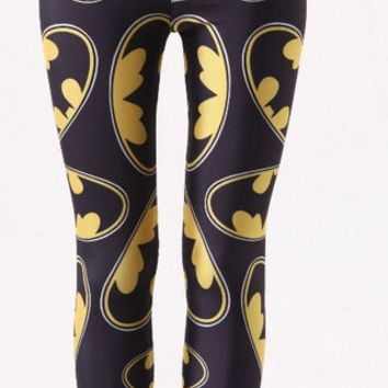 Batman baby printed Leggings (Color: Multicolor)