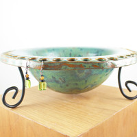 Rustic Handmade Ceramic Jewelry Bowl - Rustic Decor - Jewelry Organizer