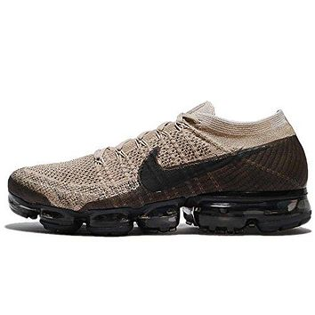 Nike Men's Air VaporMax Flyknit, KHAKI/ANTHRACITE-BLACK