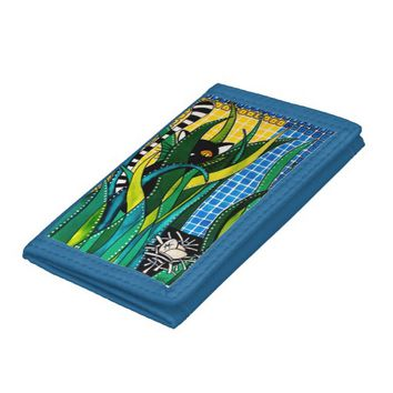 Hunter in Camouflage - Funny Cat Art Trifold Wallet