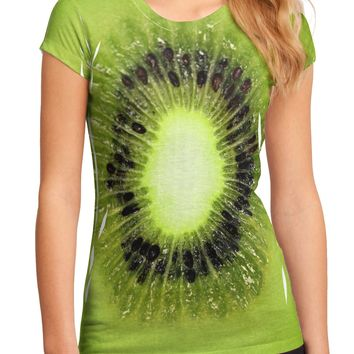 Kiwi Fruit Juniors Sub Tee Dual Sided All Over Print by TooLoud