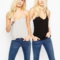 ASOS The Ultimate Cami 2 Pack SAVE 12%