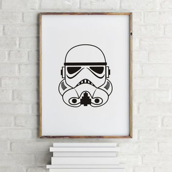 STAR WARS Art Print Dictionary Paper Star Wars Poster Sci-fi Movie Theater Decor Stormtrooper 3D Glasses Storm Trooper Darth Vader Poster