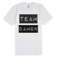 Team Damon-Unisex White T-Shirt
