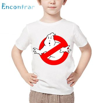 Children Cartoon Ghostbusters Funny T shirt Kids Casual Clothes Baby Boys/Girls Short Sleeve Summer Tops ,HKP5140