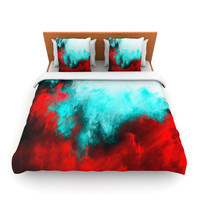 """Caleb Troy """"Painted Clouds III"""" King Fleece Duvet Cover - Outlet"""