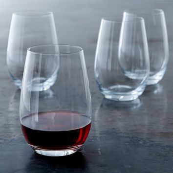 Williams-Sonoma Open Kitchen Stemless Red Wine Glasses, Set of 4