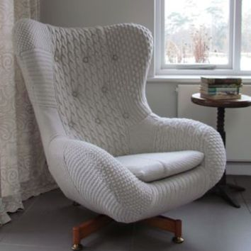 'Bevis' Patchwork Knit Chair