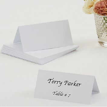 Traditional White Place Card 50 ct.
