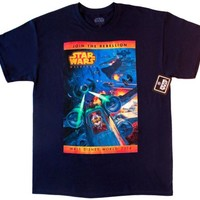 2014 Disney Star Wars Weekends Official Logo Mickey Navy T-shirt [Adult, Large]