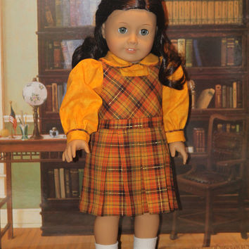 1940s Jumper and Blouse for  18 inch Dolls like American Girl Molly, Emily Kit , Ruthie